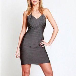 Herve Leger gray bandage dress size small